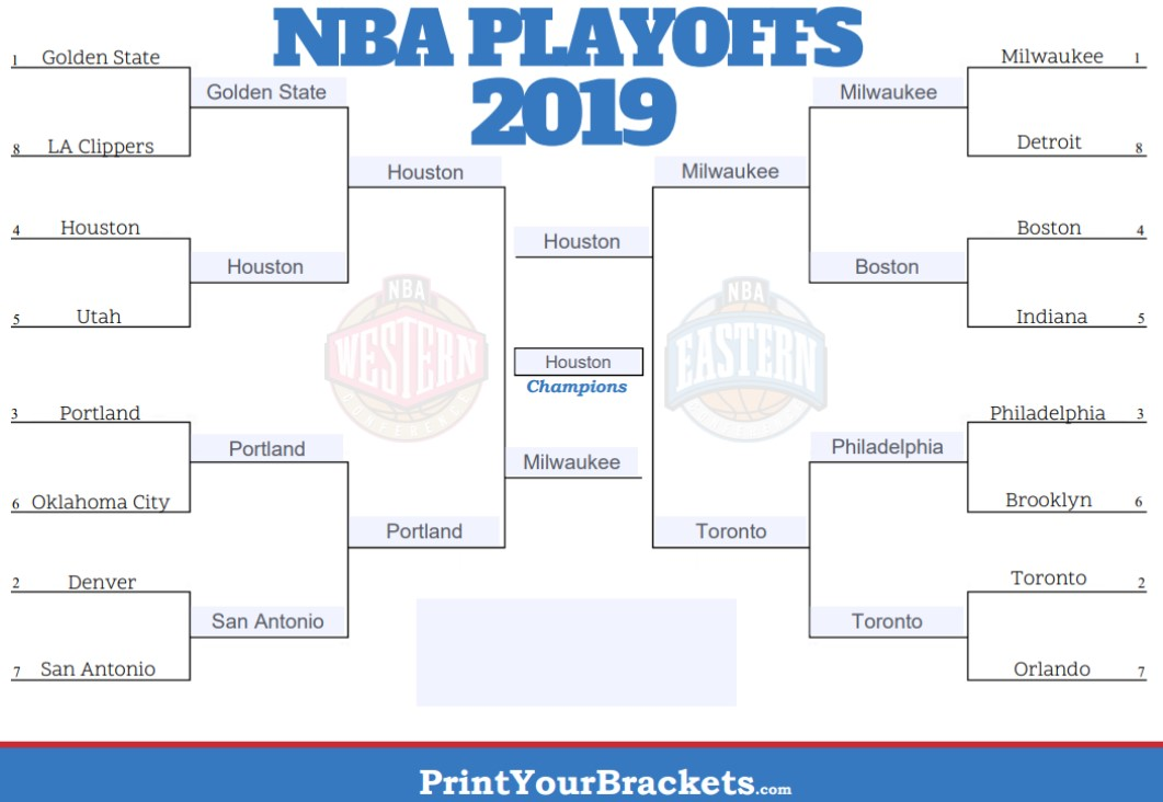 It's just a picture of Impertinent Printable Nba Playoff Bracket